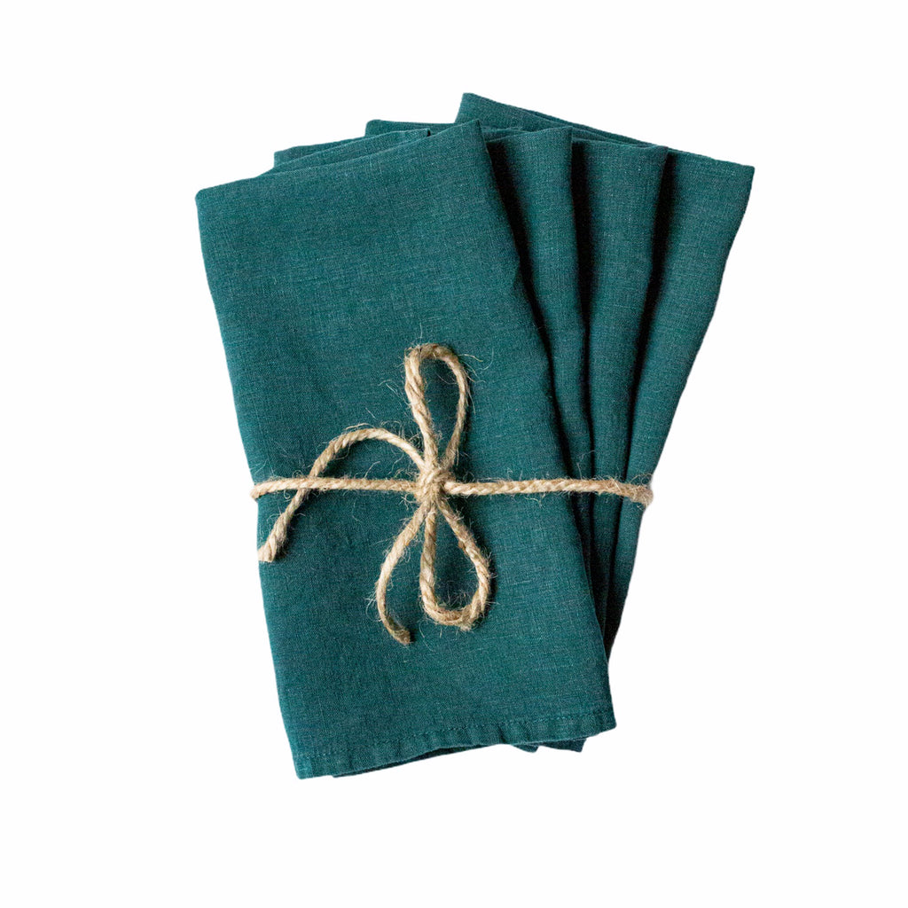 Set of 4 Foret Linen Napkins