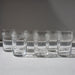 Etched crystal antique glasses from Baccarat on Madame de la Maison
