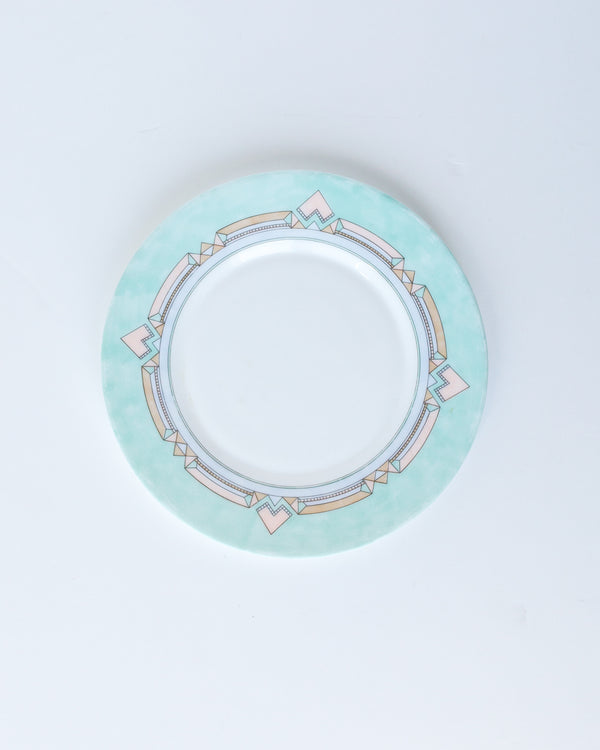 Mint and Pink Art Deco Inspired Dessert Plates