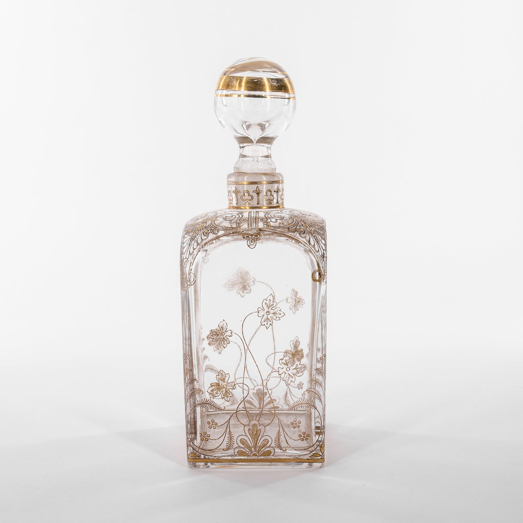 Detailed Antique art nouveau bottle with stopper | Sold on www.madamedelamaison.com