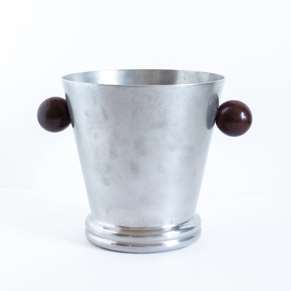 Antique Art Deco Champagne Bucket with Bakelite | Found on Madame de la Maison