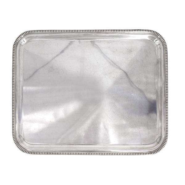Beaded Antique Silver Serving Tray | Sold on www.madamedelamaison.com