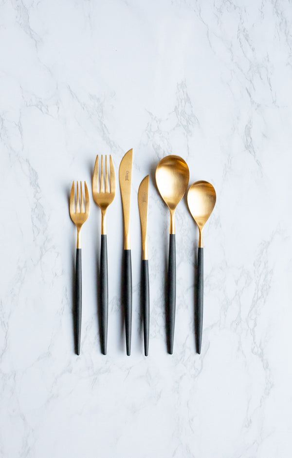 Gold & Black Cutipol Mio Cutlery