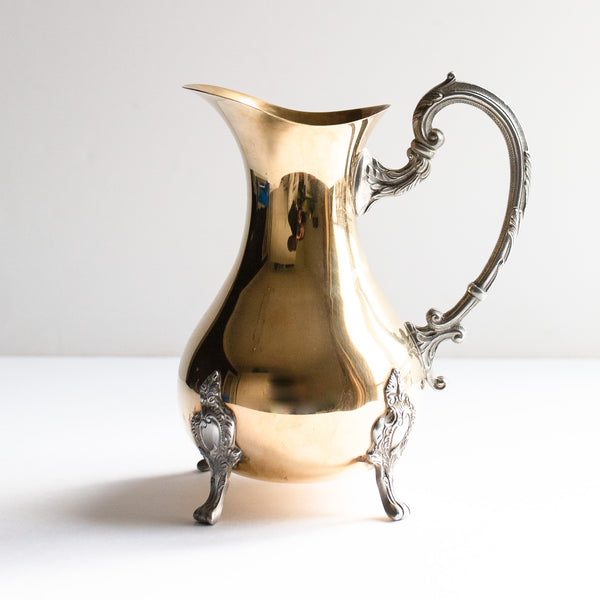 Brass and Silver Pitcher