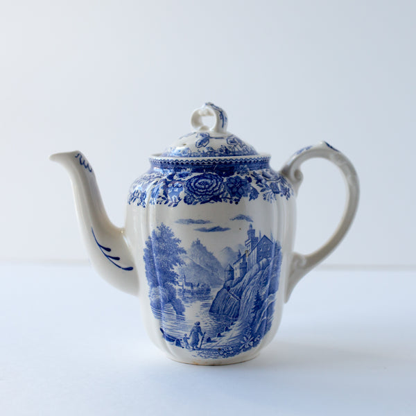 Blue and White Villeroy & Boch BURGENLAND teapot