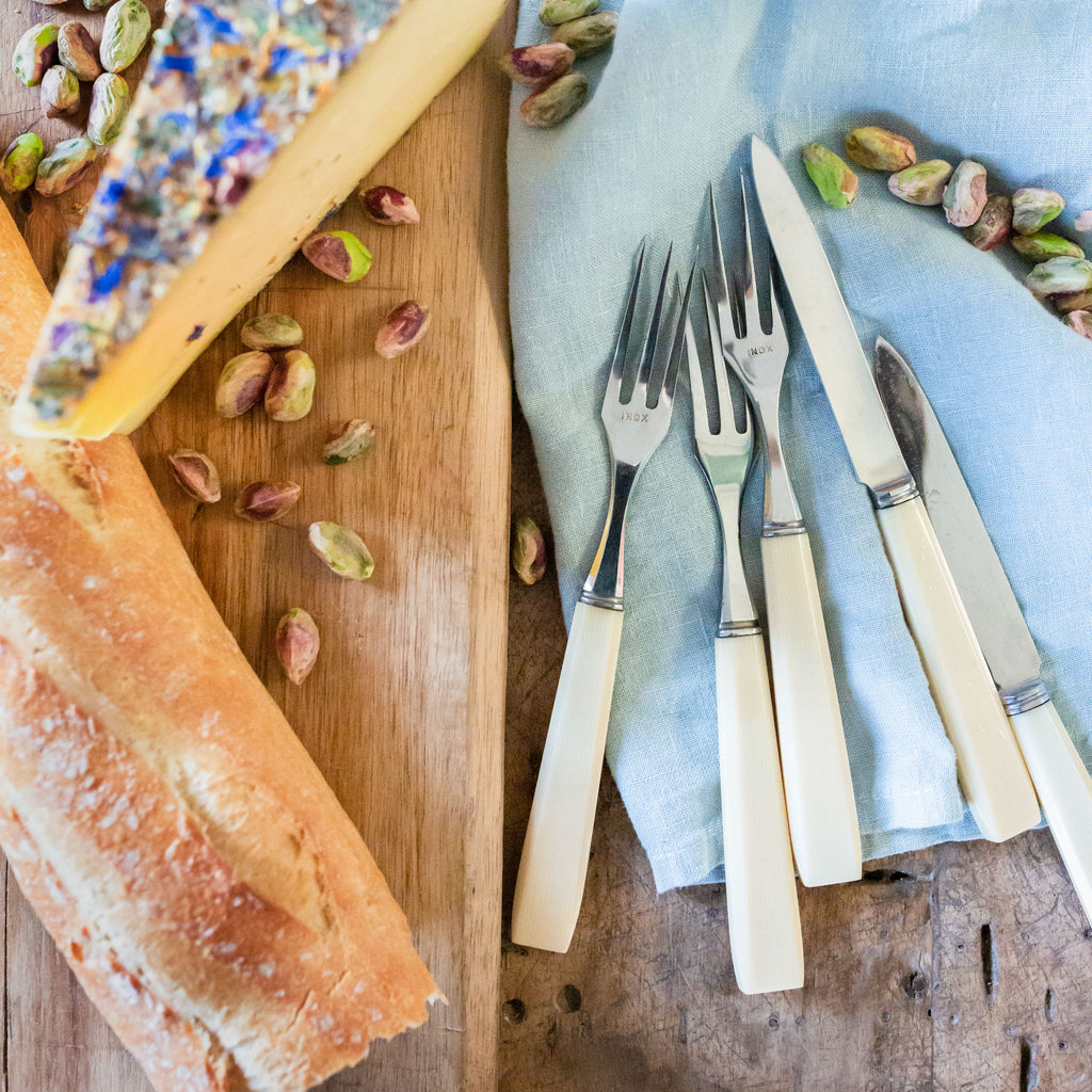set of vintage cheese fork and knives | Sold on Madame de la Maison