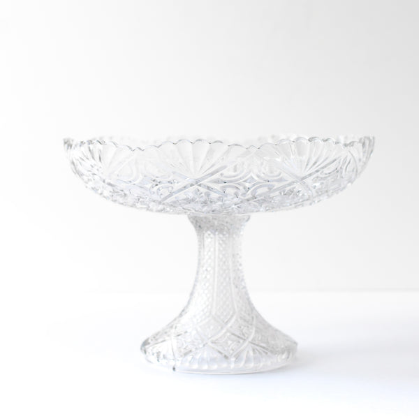 Cut Crystal Fruit Stand