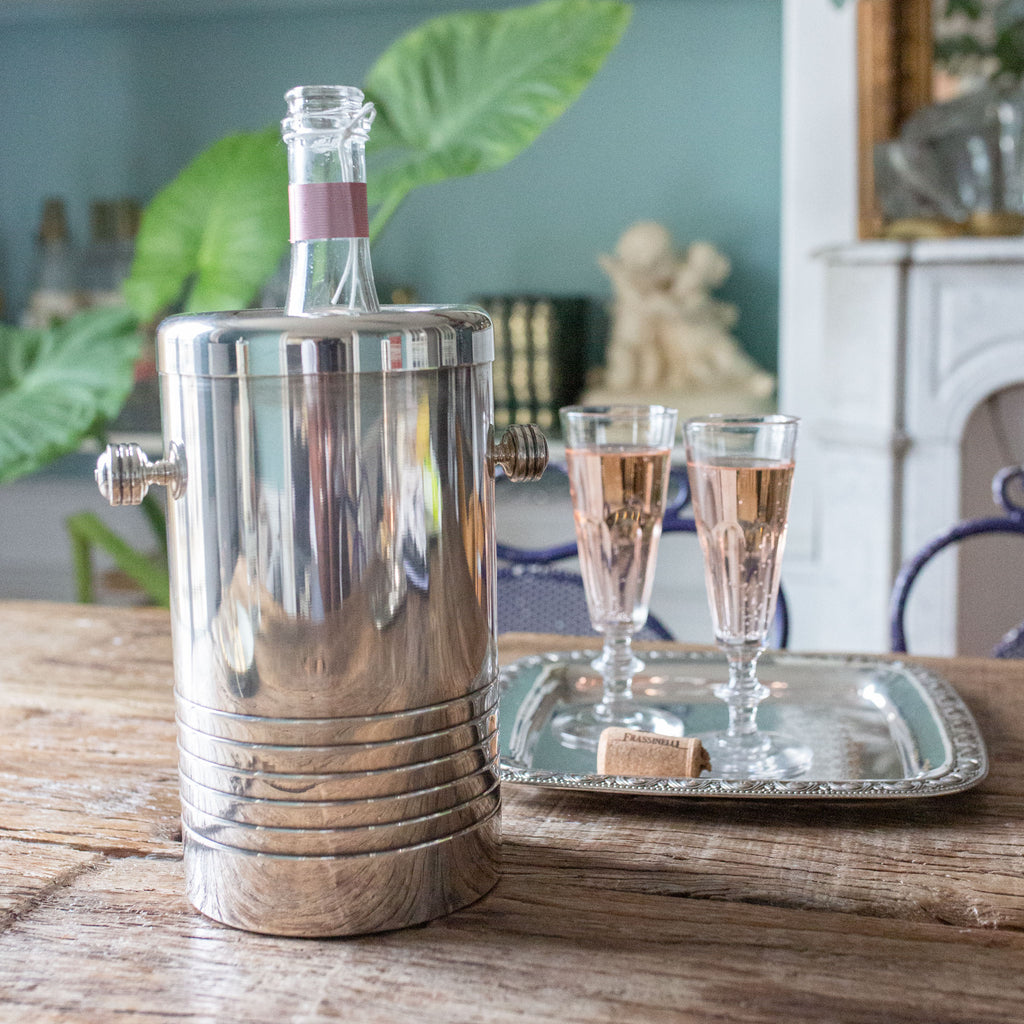 antique silver art deco insulated wine cooler | sold on www.madamedelamaison.com