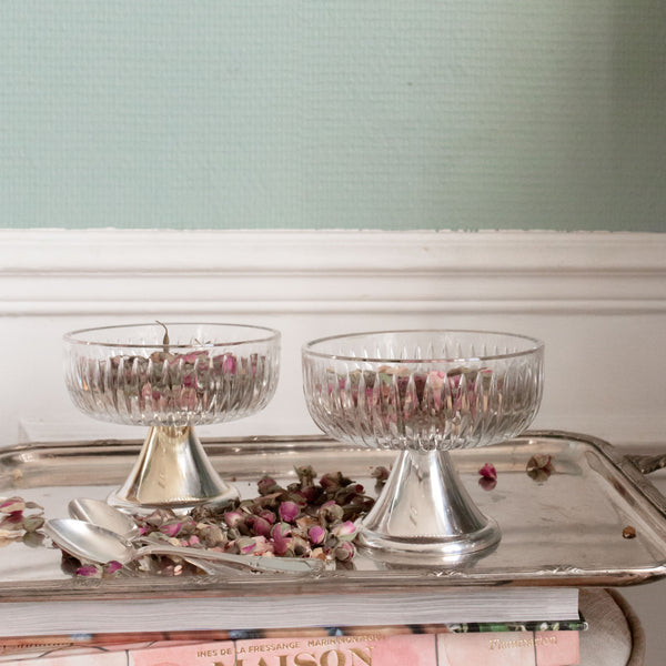 antique dessert serving coupes sold on www.madamedelamaison.com