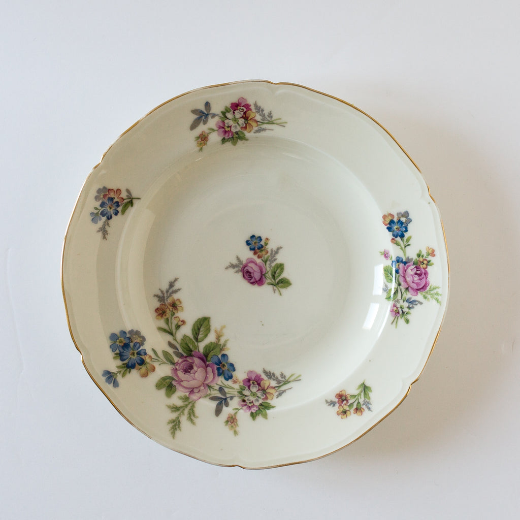 Set of Cream and Floral Bowls