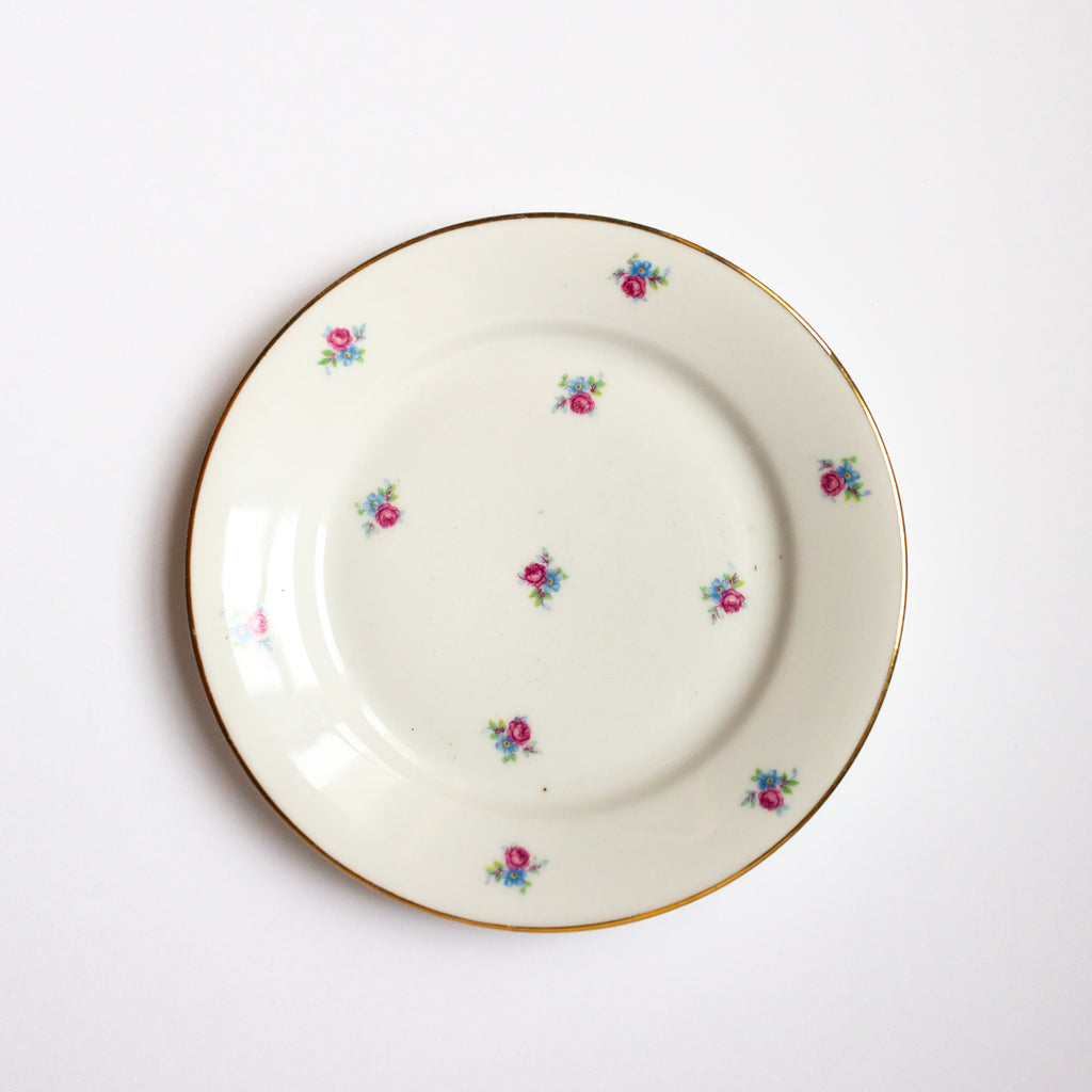 Antique floral and gold plates sold on Madame de la Maison