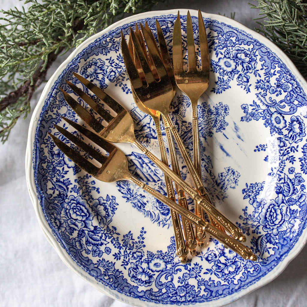 Set of 6 antique Napoleon III dessert forks | sold on www.madamedelamaison.com