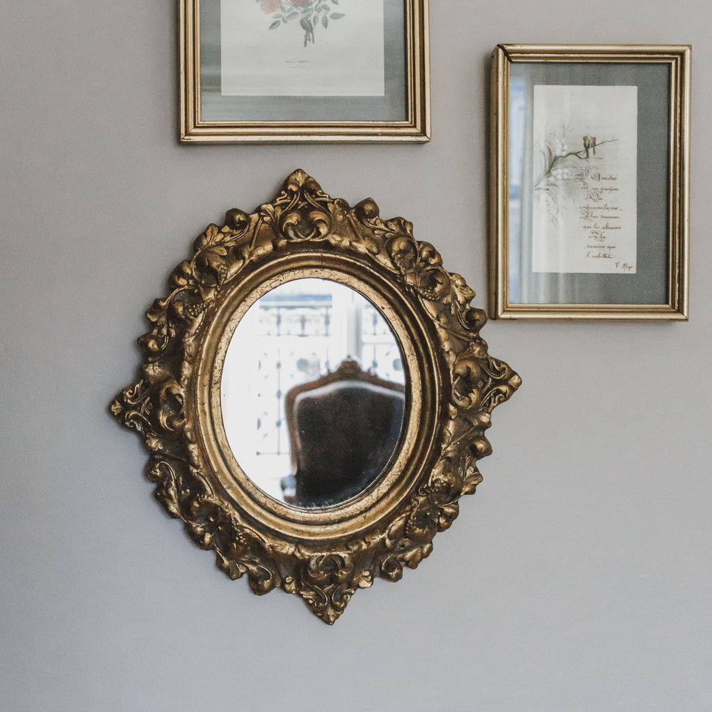 Antique Vintage Gilded Wood Mirror sold on Madame de la Maison www.madamedelamaison.com