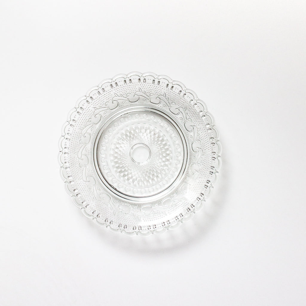 Set of 4 Glass Relief Plates