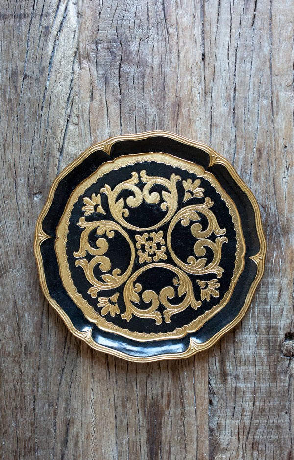 Black & Gold Florentine Charger