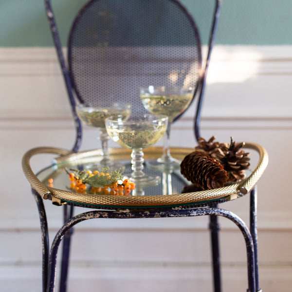 Antique brass serving tray | sold on www.madamedelamaisoncom