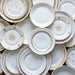 Antique Gold and White Plate Collection