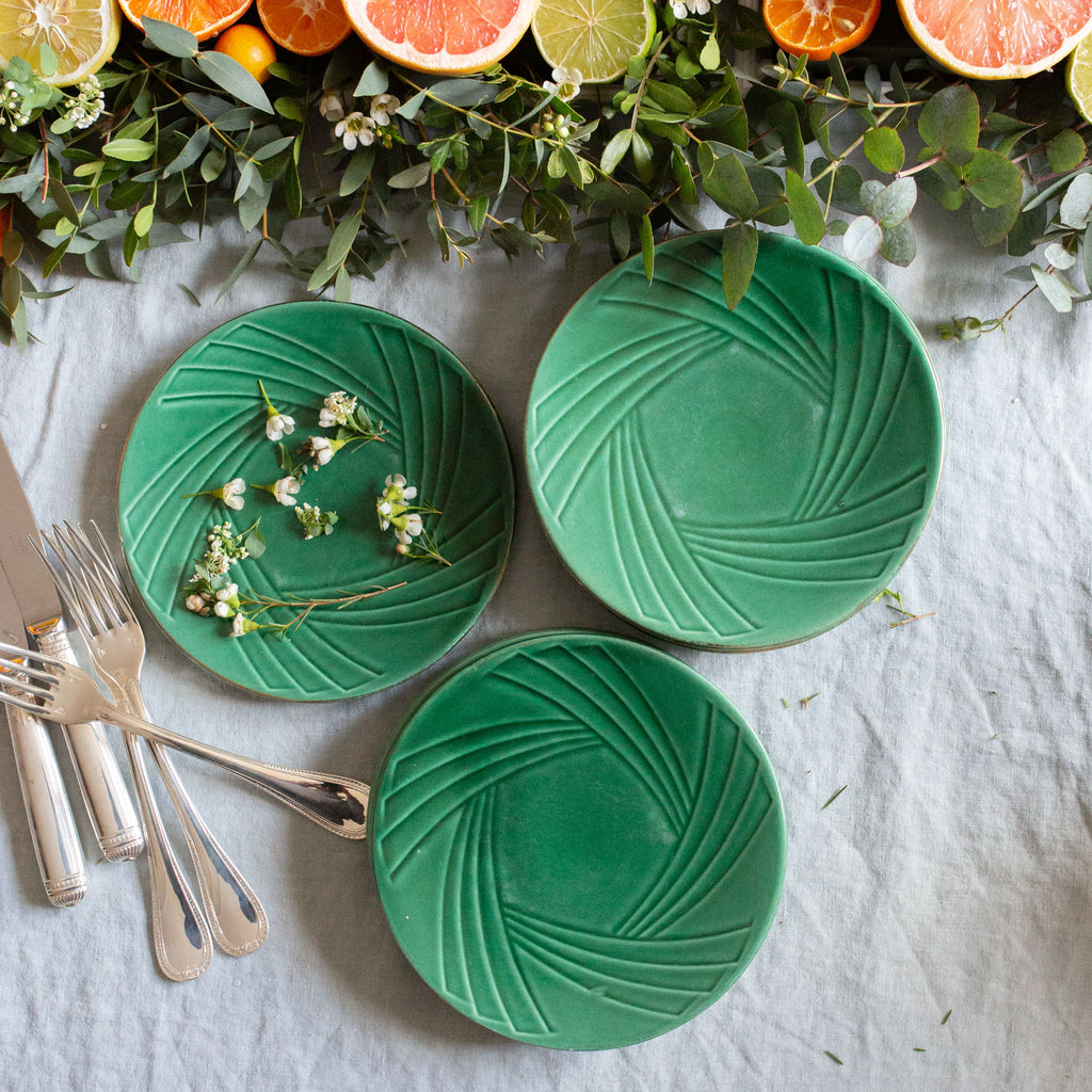 Green Art Deco Plates sold on Madame de la Maison