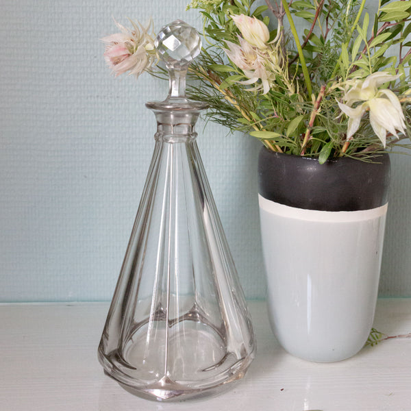 Crystal Faceted Decanter
