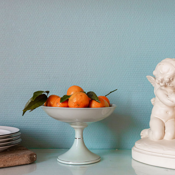 Mint Porcelain Fruit Stand