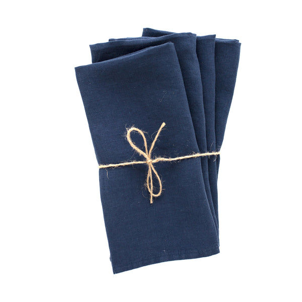 midnight blue linen napkin from Madame de la Maison