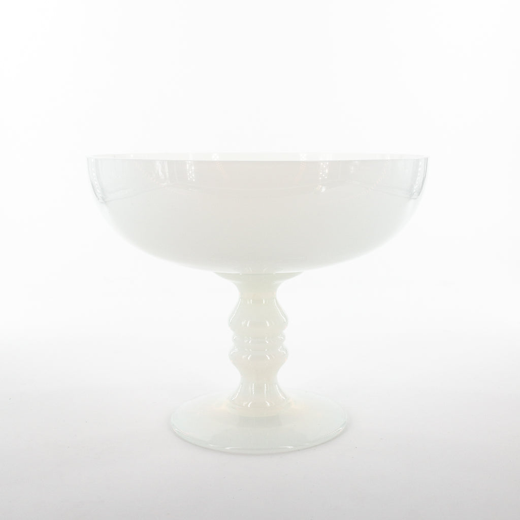White Opaline Glass Fruit Stand