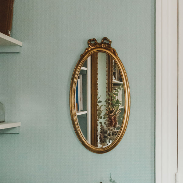 antique Oval Baroque Mirror sold on www.madamedelamaison.com