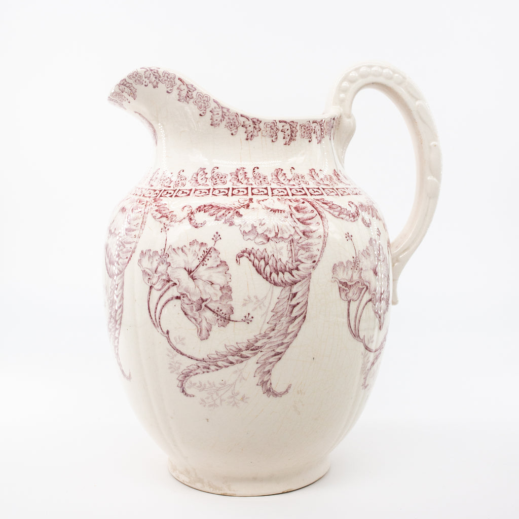 Antique Rose Ironstone Pitcher | Sold on www.madamedelamaison.com