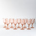 Set of Antique Pink Wine Glasses | Found on Madame de la Maison
