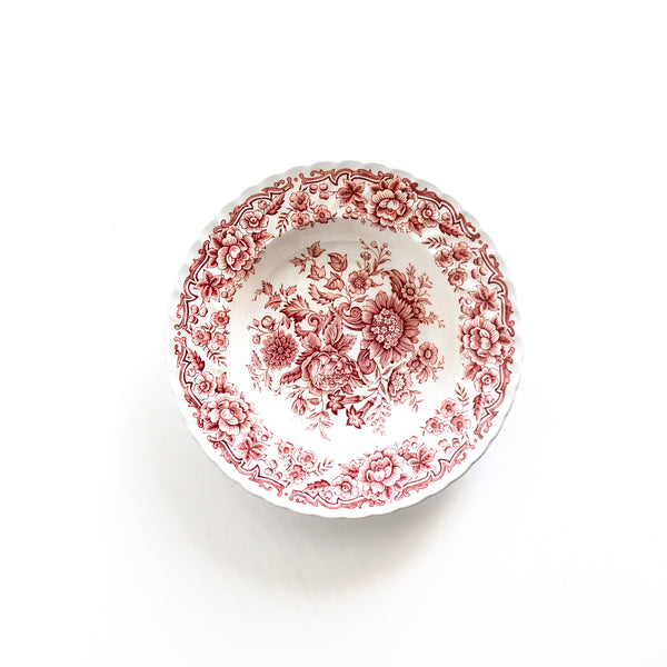 Set of Rose English Ironstone Bowls