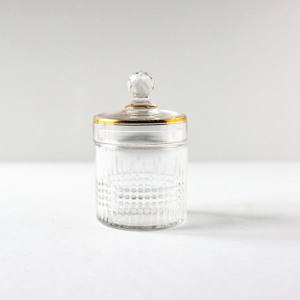 Antique beveled crystal jar from Madame de la Maison