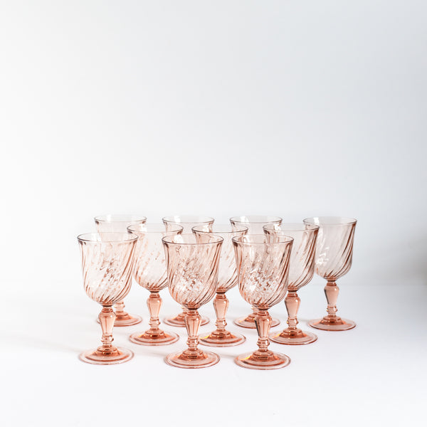 Pink Antique Wine Glasses | Sold on Madame de la Maison