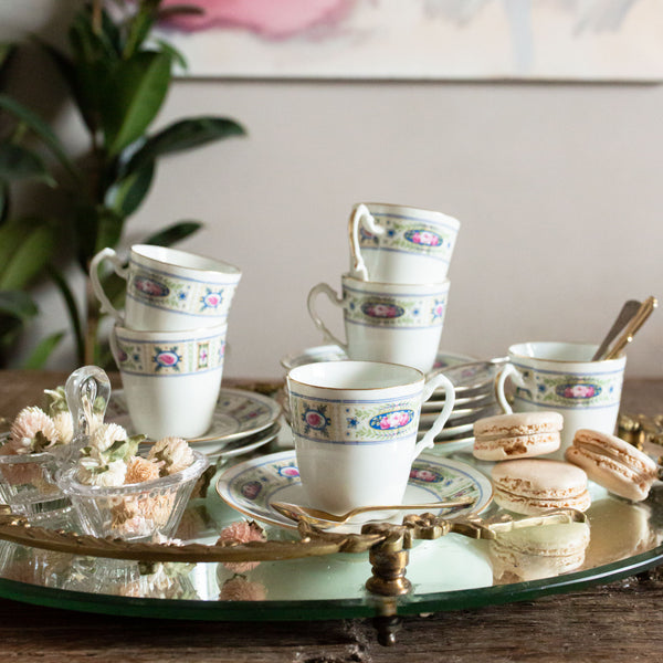 antique floral Limoges coffee cup | sold on madamedelamaison.com