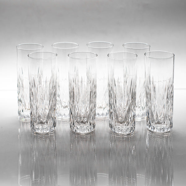 Antique cut crystal wine glasses | sold on www.madamedelamaison.com