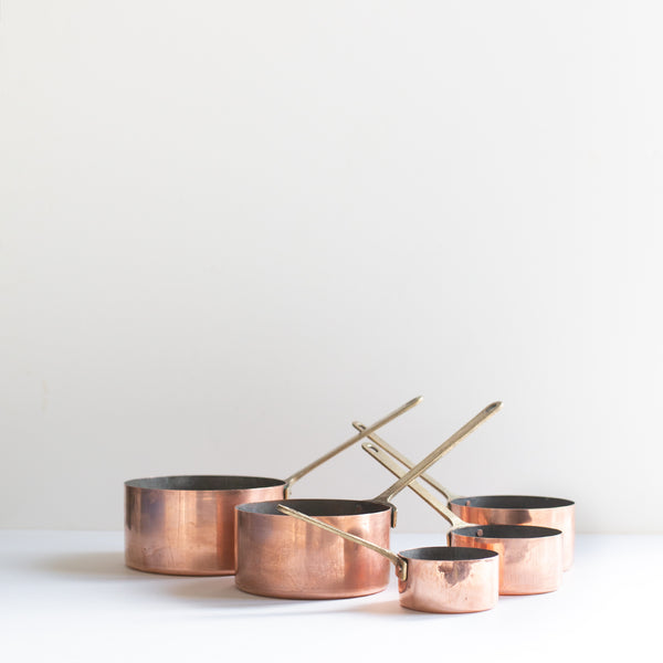Set of copper pots | Sold on www.madamedelamaison.com