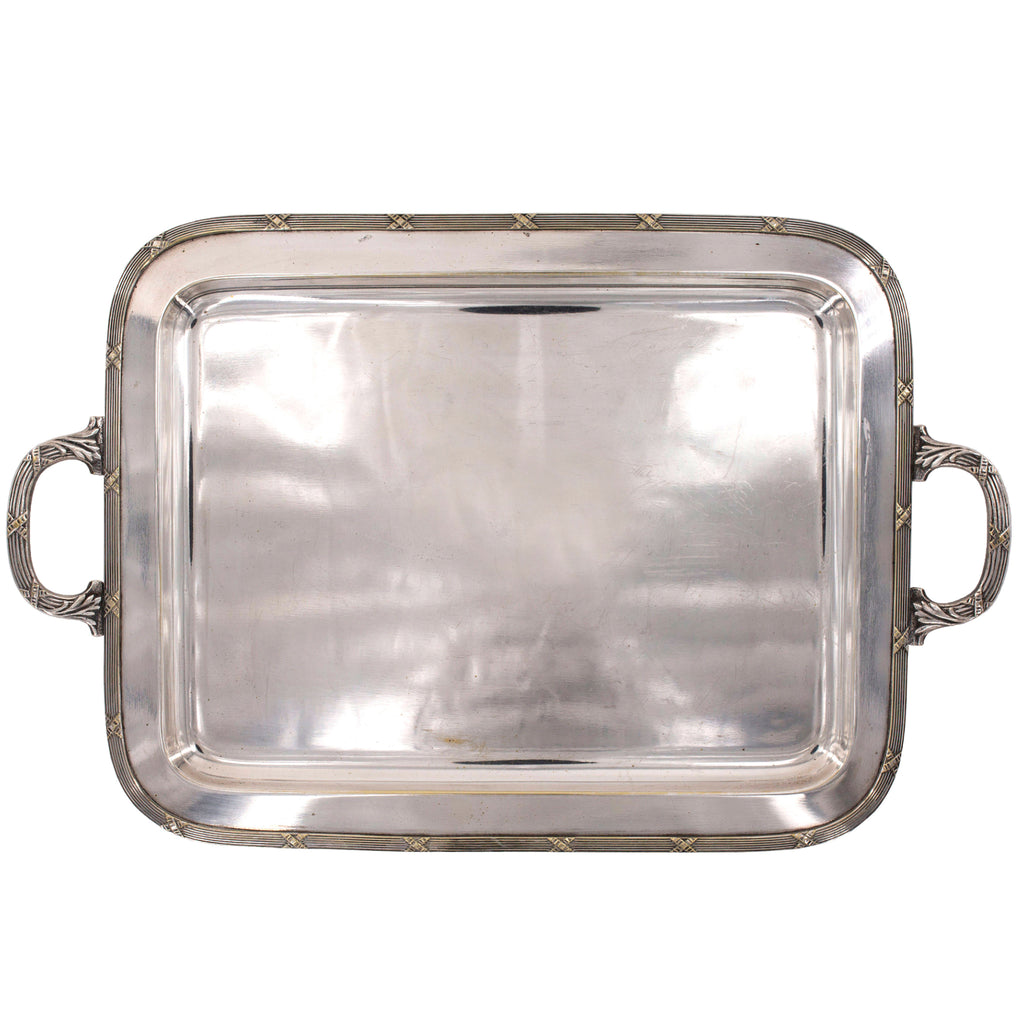 antique silver serving tray | sold on www.madamedelamaison.com