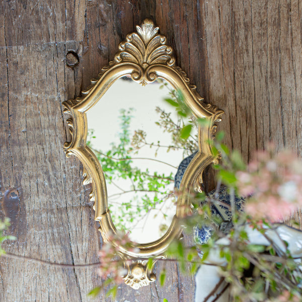 Antique gilt wood Hollywood Regency Mirror