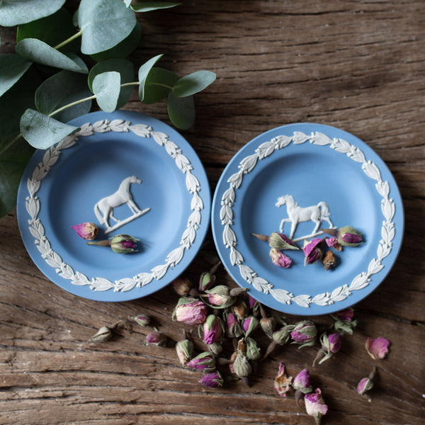 Pair of Wedgewood Horse Pin Dishes | Sold on www.madamedelamaison.com