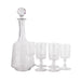 Antique crystal decanter and wine glass set | Sold on www.madamedelamaison.com