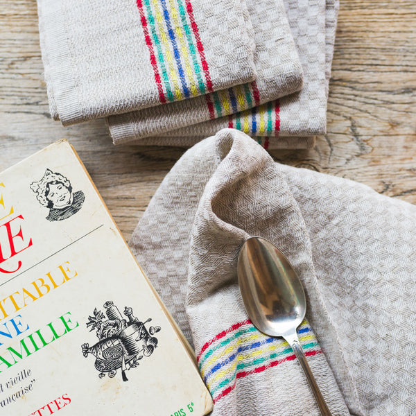 antique kitchen towels sold on Madame de la Maison