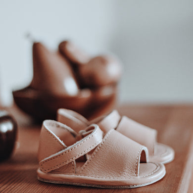 SALE Anais Sandal | Shell Smooth Leather