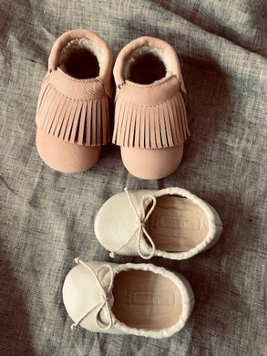 Baby Girl Bundle  | Moccasin and Ballet Pump - SHELL & IVORY