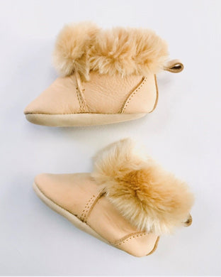 Barney Moccasin Bootie | Tan Leather
