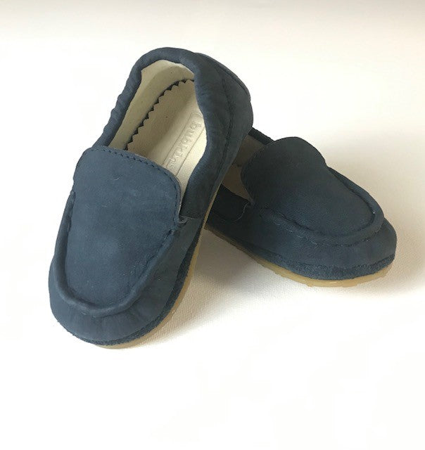 Hughie Loafer Moccasin | Navy Leather