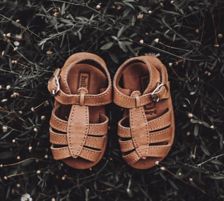 Noemi T-bar Sandal | Caramel Leather PREORDER | Delivery AUGUST