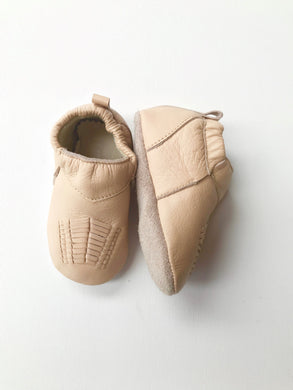 Bubkins Baby Moccasin | Nude Leather