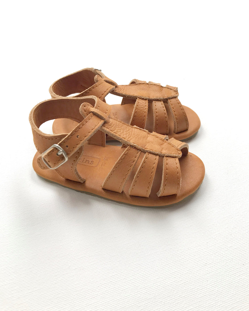 Noemi T-bar Sandal | Caramel Leather