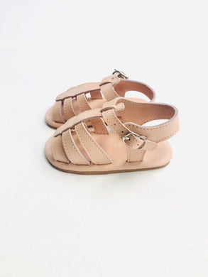 Noemi T-bar Sandal | Shell Smooth Leather