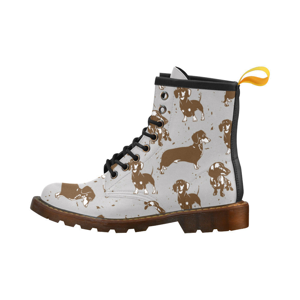 Custom Dachshund PU Leather Boots