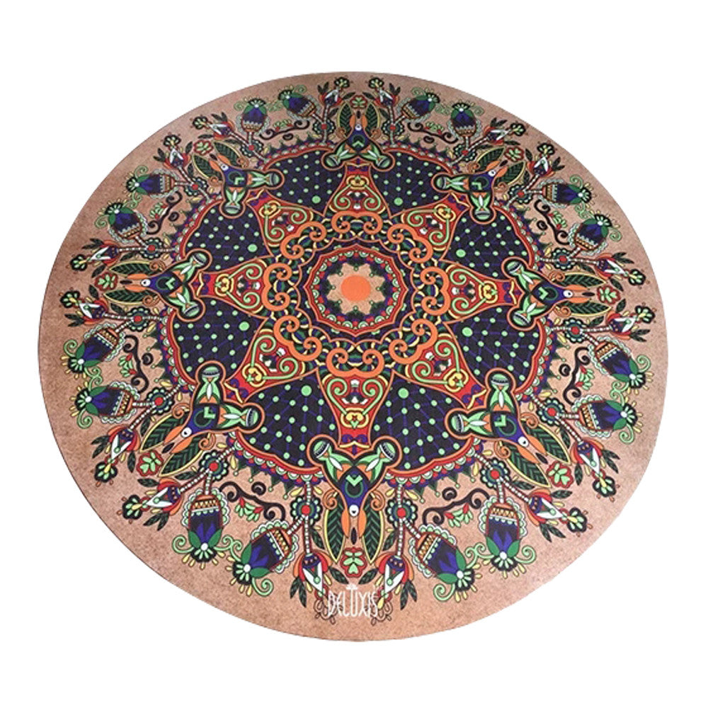 products multi eumerce round rubber accessories yoga natural printed mat activity use